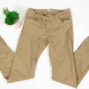 Skinny Khaki School Pants